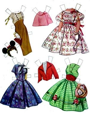 1958 Annette Funicello paper doll clothes / eBay