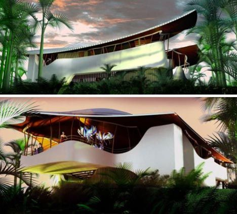 Green Luxury: Futuristic Off The Grid Forest Home Design