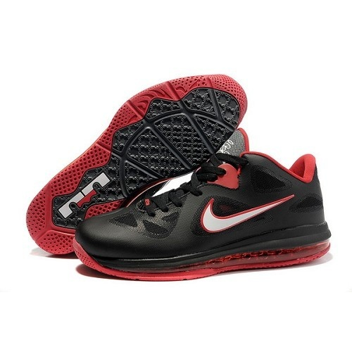 Nike Air Max Lebron 9 VIIII Low Men Black Red Basketball Shoes For $72.00  Go To