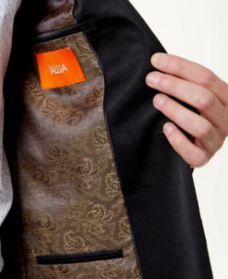 Tallia Men's Big & Tall Slim-Fit Brown/Black Floral Shawl-Collar Dinner Jacket - Brown 50XL