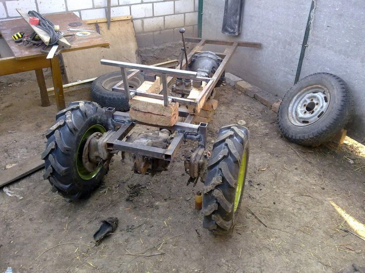 Homemade tractor front garden for knockout small garden tractors with front end loaders for Small garden tractors with front end loaders