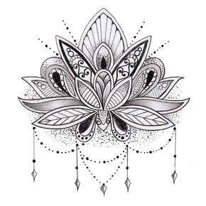Fiore di loto tatuaggio temporaneo