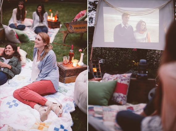 Backyard movie night | event planning by Bash, Please | photo by Brandon Kidd | 100 Layer Cake