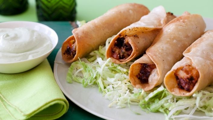 How to make the perfect Chicken Flautas with Avocado Cream by Sunny Anderson on Food Network UK.