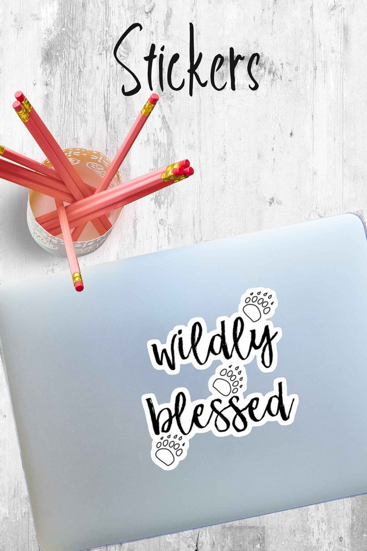 Are you wildly blessed in your life? Do you know someone who is? This design would look awesome on a mug or a devotional notebook as you celebrate your many blessings. Stickers Tags  blessed wildly blessed blessings blessed by god