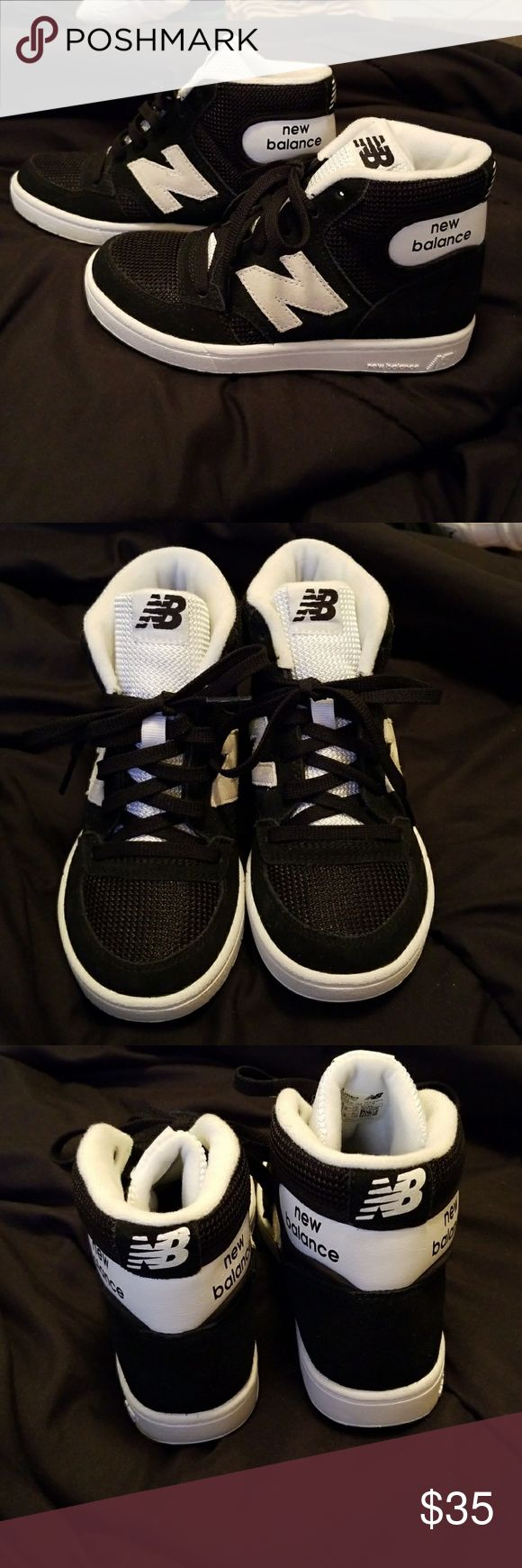 Boy's New Balance Sneakers Brand New Brand nsmew high tops. Never Worn! Stored in closet. Only tried on. No box. Great style! Cute with joggers!!! New Balance Shoes Sneakers