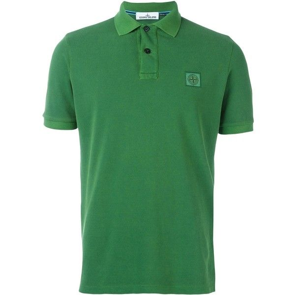 Stone Island short sleeved polo shirt ($150) ❤ liked on Polyvore featuring men's fashion, men's clothing, men's shirts, men's polos, green, mens short sleeve polo shirts, mens short sleeve shirts, mens polo shirts, men's cotton polo shirts and mens green polo shirt