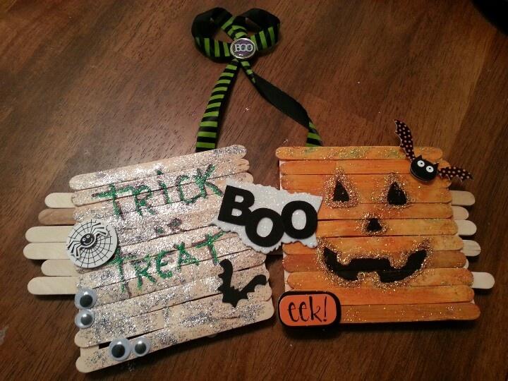 popsicle stick halloween craft