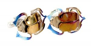Beetle cufflinks in titanium - $418