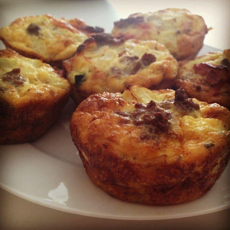 Egg White & Veggie Breakfast Muffins, Whole 30 Compliant