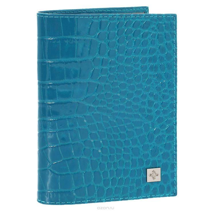 Обложка для паспорта Dimanche Электрик, цвет: лазурь. 950
