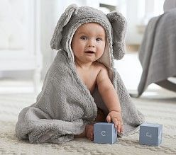 Hooded Baby Towels & Bath Towel Wraps | Pottery Barn Kids