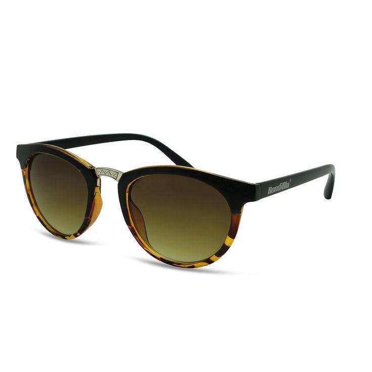 Buy BondiBlu Sunglasses - Black & Demi Brown With Silver Bridgefor R228.00