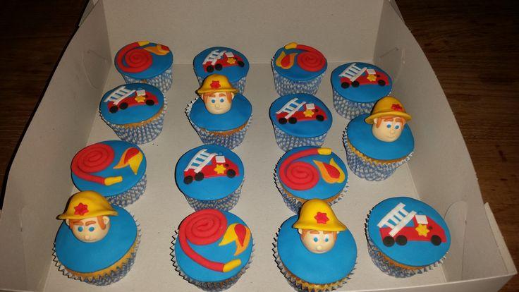 Cupcakes brandweerman Sam