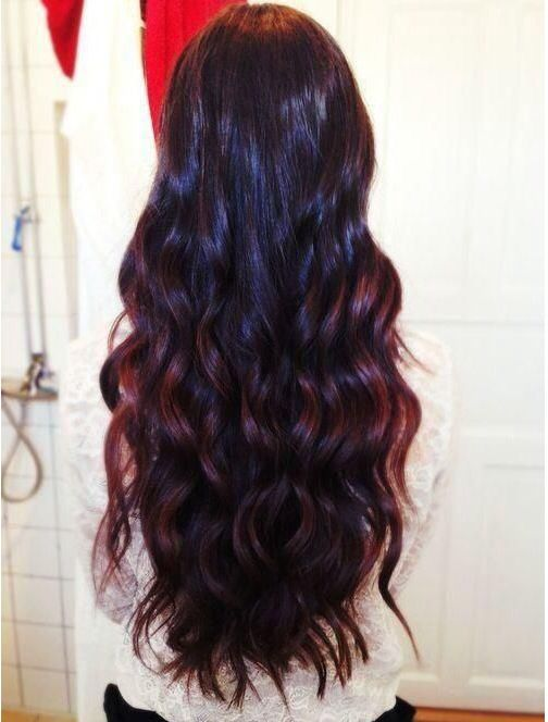 Black ombre with a red glow on the tips