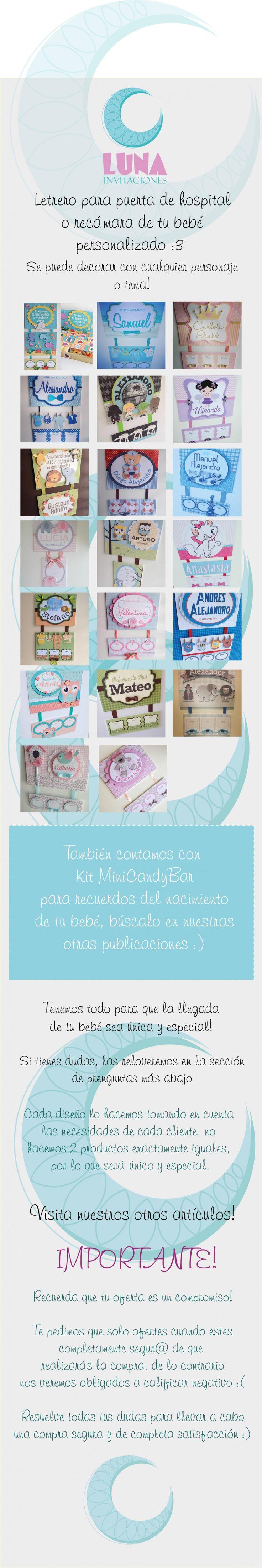 Letrero Para Puerta De Hospital, Nacimiento, Babyshower - $ 300.00 en MercadoLibre