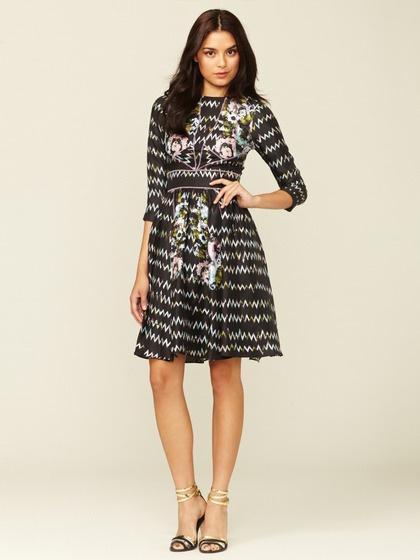 Cynthia Rowley Stitched Silk Distorted Dress