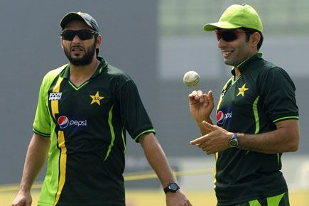 Pakistan's flamboyant all-rounder Shahid Afridi along with 11 other cricketers have been penalised by the Pakistan Cricket Board (PCB) for failing fitness evaluation tests. Five other cricketers were rewarded with percent bonuses for improving their fitness, including Test and one-day captain Misbah-ul Haq and batsman Ahmed Shahzad