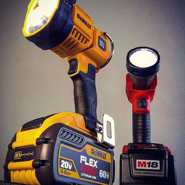 I'm ready for the next blackout! #dewalt #dewalttough #yellow #tools #tool #dewaltcanada #powertools #flashlight #light #led #milwaukee #milwaukeetools #red #nbhd #tools #homedepot #cordless #flexvolt #outside #canada #gta #follow #favorite #jrrusticdesign @dewalt_ca @dewalttough #toughinthenorth #puttoughtothetest @milwaukeetool