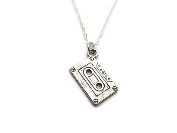 Cassette Tape  Necklace Mixed Tape  Necklace by RevelryJewelry