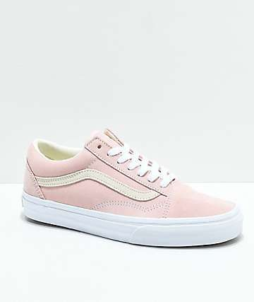 865721bc56 Vans Old Skool Pastel Peach   White Skate Shoes in 2019