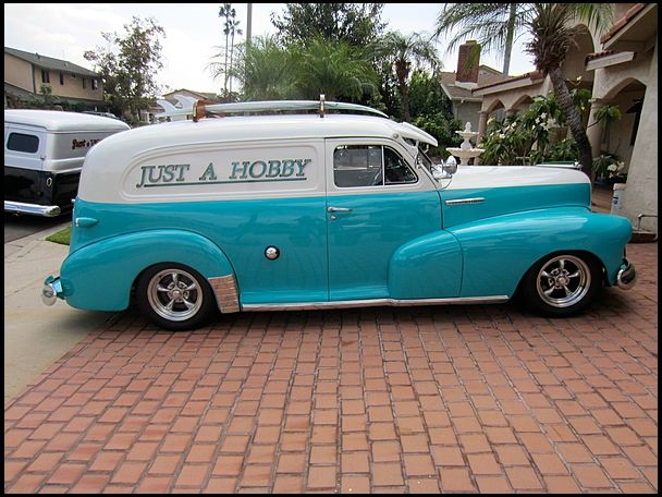 1947 Chevrolet Custom Delivery 216 CI, Automatic presented as lot F103 at Anaheim, CA 2013 - image2