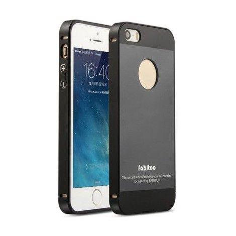 Coques / Protections iPhone 5 / 5S - Coque de protection 2 en 1 bumper aluminium et PC et protection arrière pour iPhone 5 et 5S - nemtytab.com 10,90 EUR