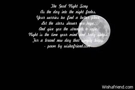 The Good Night Song As
