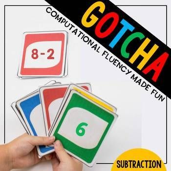 Subtraction Gotcha: A Math Fact Fluency Game for the Classroom | TpT