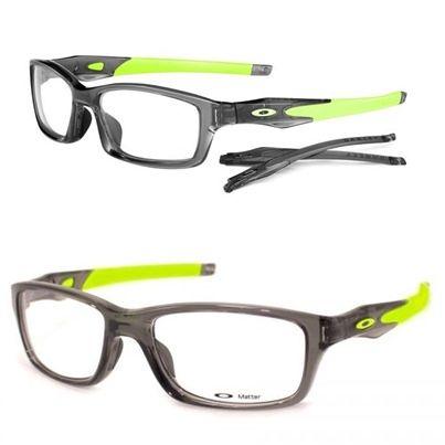 Óculos de grau da Oakley, modelo Crosslink™! Com design esportivo e 2 pares de hastes flexíveis emborrachados, este óculos é muito original e versátil pois você pode trocar as hastes quando quiser! Armação feita em O Matter™, material exclusivo da Oakley, que resiste à altas temperaturas, adere ao rosto durante a transpiração sem escorregar, é muito leve e resistente a impactos! (Fonte: Oakley) https://plus.google.com/110606446956149039003/posts/19FbBXwrdq3