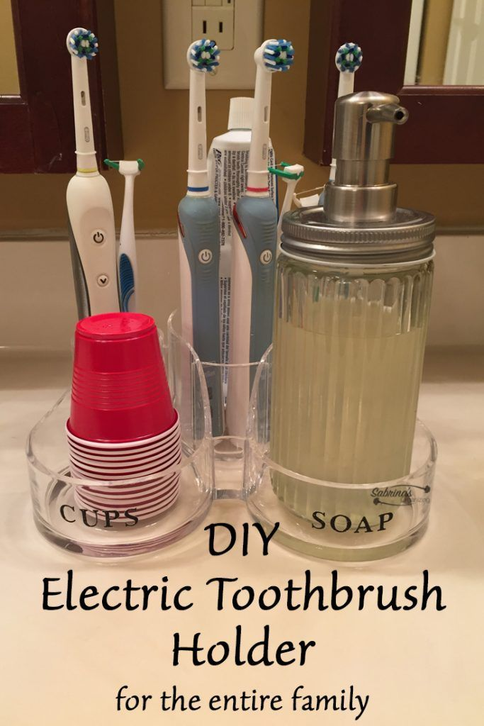 Diy Electric Toothbrush Holder In 2020 Electric Toothbrush Holder Brushing Teeth Toothbrush Holder Diy