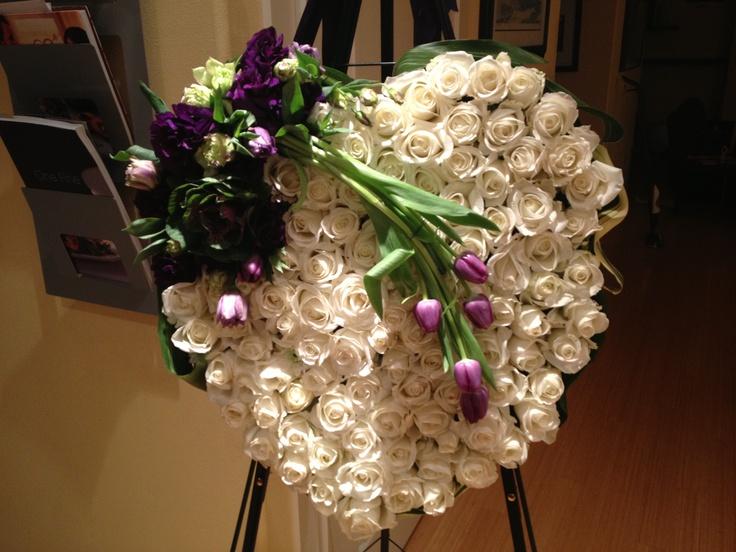 Bleeding Heart Funeral Arrangement Funeral flowers