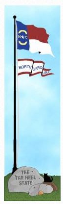 North Carolina State Flag - Cat's Meow Wooden Art Collectible