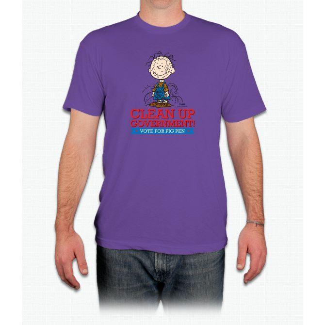 Pigpen Clean Up Linus Peanuts - Men T-Shirt