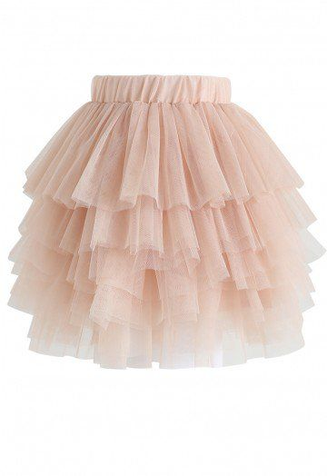 218a3f125b Love Me More Layered Tulle Skirt in Nude Pink for Kids - Retro, Indie and  Unique Fashion
