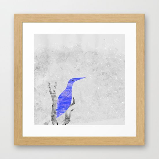 Let it snow Framed Art Print by Inmyfantasia
