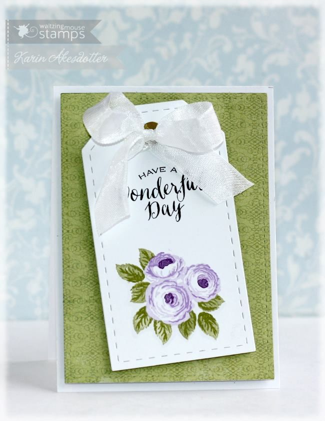 December 2014 New Release Showcase Day Three. Card by Karin Akesdotter featuring Old Country Roses.  Shop for our products here - waltzingmousestamps.com   More design team inspiration here - http://wmsinspiration.blogspot.co.uk/2014/12/december-2014-new-release-showcase-day.html