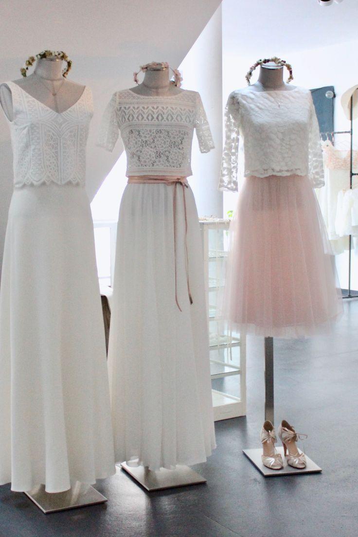 Schlichte Brautkleider und moderne Hochzeitskleider für die