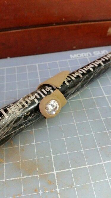 anillo en bronce pmc arcilla metalica en proceso