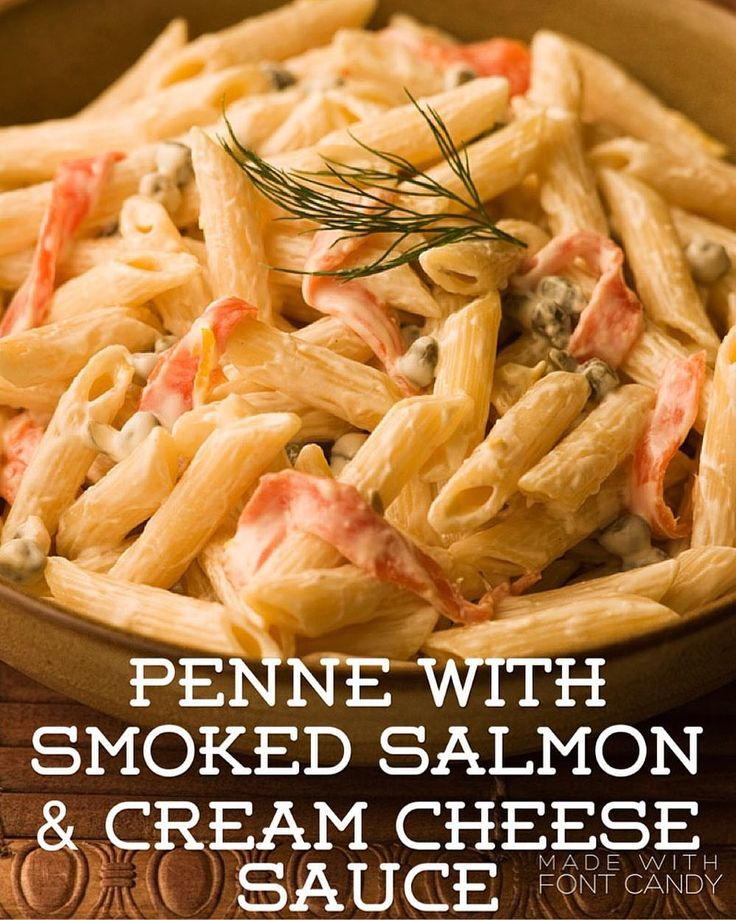 Recipe of the Day!> Penne with Smoked Salmon & Cream Cheese Sauce> It tastes great, and the sauce makes itself!
