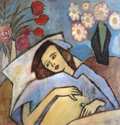 Gabriele Münter (1877-1962) was een Duitse expressionistische schilder en grafisch kunstenaar. Ze was de levensgezellin van Wassily Kandinsky. Ze hield een aanzienlijk deel van zijn werk verborgen tijdens en vlak na de Tweede Wereldoorlog en gaf het later terug aan de openbaarheid, met werken van zichzelf en kunstenaarsvrienden van Der Blaue Reiter.