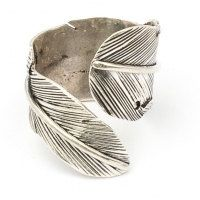 Anello di piuma d'argento wrap JS-R-001