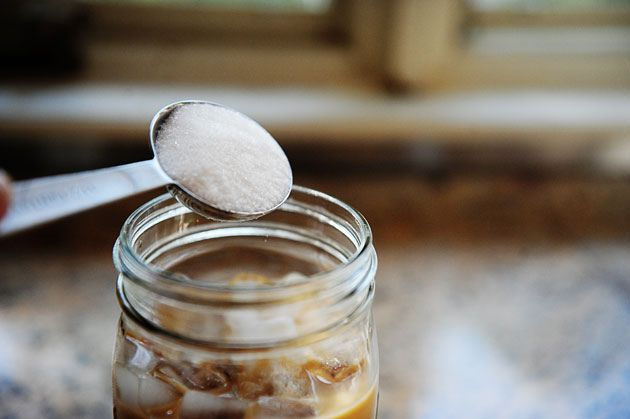 The perfect iced coffee from the Pioneer Woman. Strain the grounds through a cheese cloth. Love her blog.