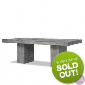 Sitting Pretty Furniture - Slab Concrete Table - Dark Grey - 200cm - DUE EARLY SEP