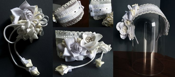 diadem for the first communion and dress decor