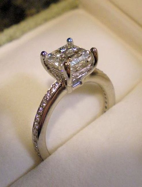 real ritani engagement rings 1 4 carat princess cut with