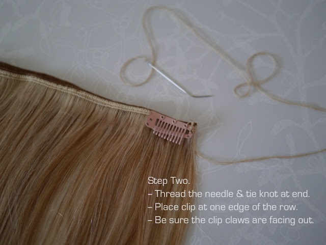 DYI Clip-In Hair Extensions Tutorial