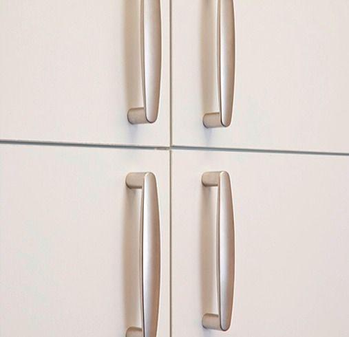 Garage Cabinets W Contemporary Handles In Matte Nickel Www Closetsbydesign Com 1 800 293
