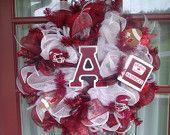 Items similar to Deco Mesh Wreaths for Arkansas Razorback Fan on Etsy