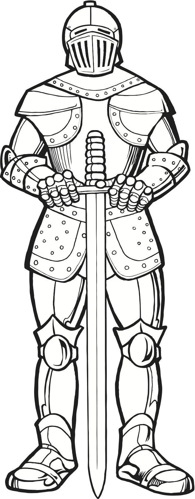 Knight in Armor (coloring page)
